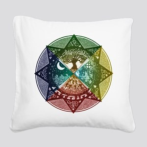 Elemental Seasons Square Canvas Pillow