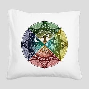 Elemental Seasons Square Canvas Pillow