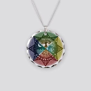 Elemental Seasons Necklace Circle Charm