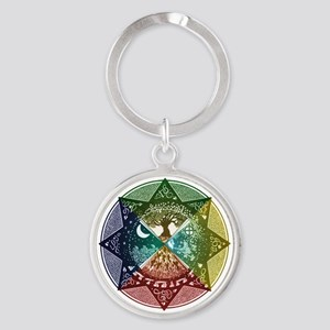 Elemental Seasons Round Keychain