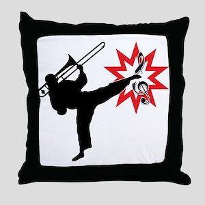Music Karate Kick Shattering Treble Clef Throw Pil