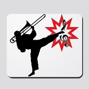 Music Karate Kick Shattering Treble Clef Mousepad