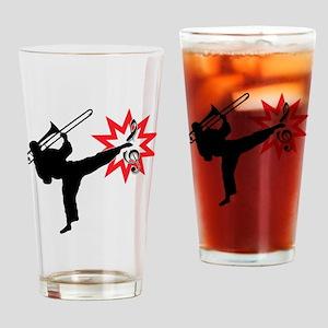 Music Karate Kick Shattering Treble Clef Drinking