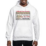 """Official Gun Permit"" Hooded Sweatshirt"