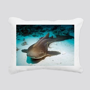 Leopard shark and remora - Pillow