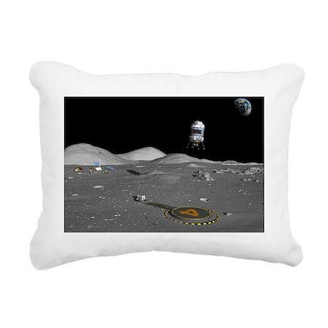 Lunar shuttle landing, artwork - Pillow