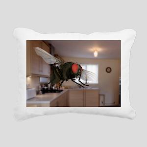 Male lesser housefly in flight, SEM - Pillow