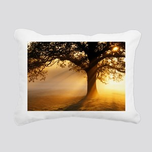 Oak tree at sunrise - Pillow