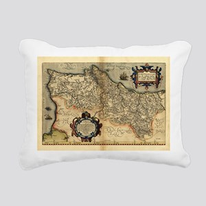 Ortelius's map of Portugal, 1570 - Pillow
