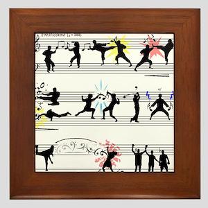 Musical Fight Scene! Framed Tile