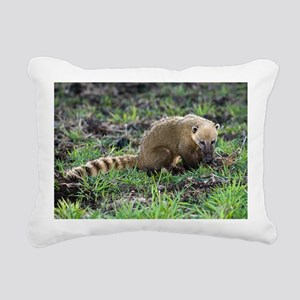 South American coati foraging - Pillow