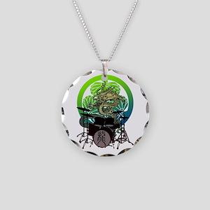 Dragon Drum 03 Necklace Circle Charm