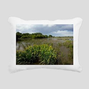 Yellow iris (Iris pseudacorus) in wetland - Pillow