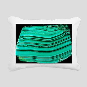 A polished slab of malachite - Pillow