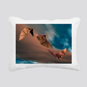 Bats in flight, artwork - Pillow