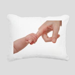 Baby holding her mother's finger - Pillow