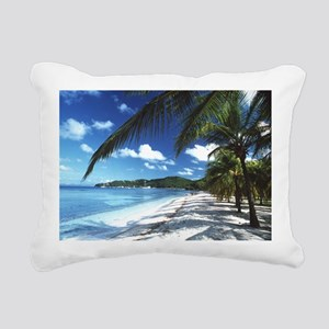 Beach with palm trees - Pillow