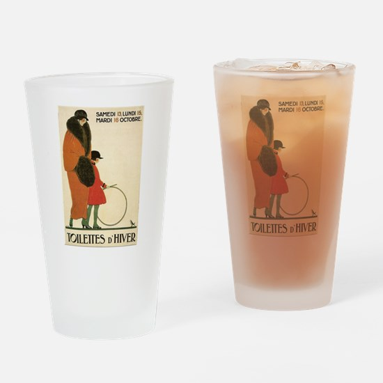 Toilettes D'Hiver Drinking Glass
