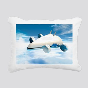 Futuristic airship, artwork - Pillow