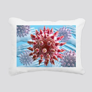 Human papilloma virus particles, artwork - Pillow