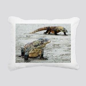 Komodo dragons on a beach - Pillow
