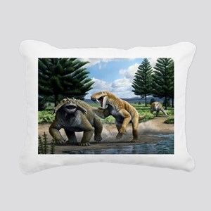 Permian animals, artwork - Pillow