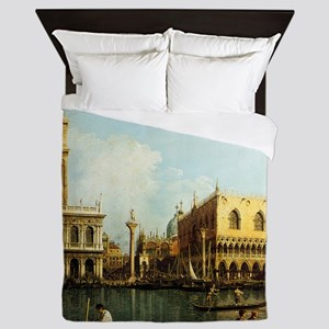 Canaletto The Pier Queen Duvet
