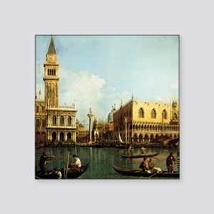 "Canaletto The Pier Square Sticker 3"" x 3"""