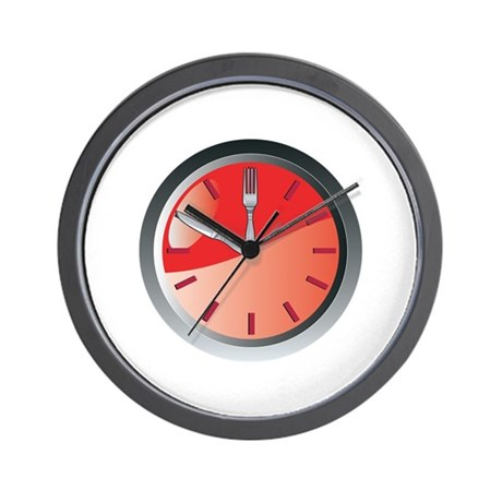 wall clock spoon and fork eating time Wall Clock