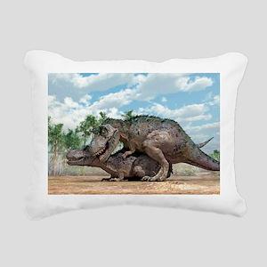 Tyrannosaurus rex dinosaurs mating - Pillow
