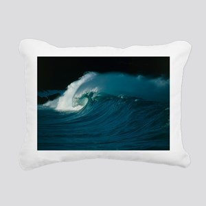 Wind-blown wave breaking in Hawaii - Pillow