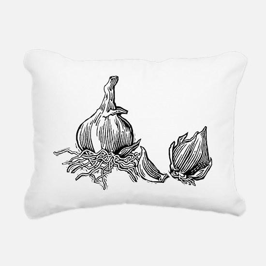 Bulbs of garlic, woodcut - Pillow