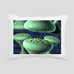 Action of a beta blocker drug, artwork - Pillow