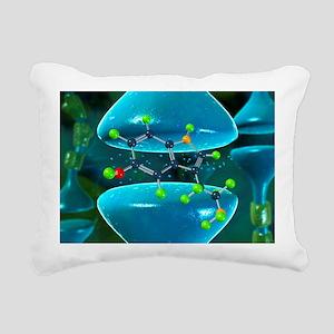 Serotonin neurotransmitter molecule - Pillow
