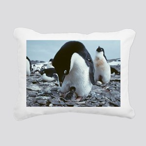 Adelie penguin with chick - Pillow