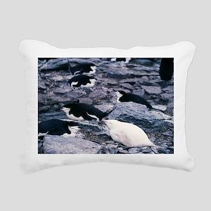 Albino chinstrap penguin - Pillow