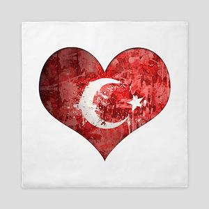 Turkish heart Queen Duvet