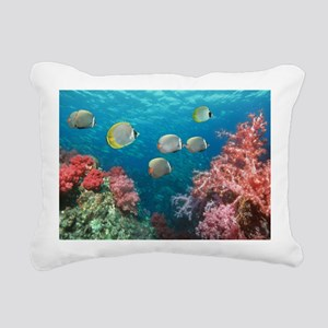 Butterflyfish over corals - Pillow