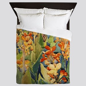 Maurice Prendergast Bed Of Flowers Queen Duvet
