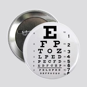 "Eye Chart 2.25"" Button"