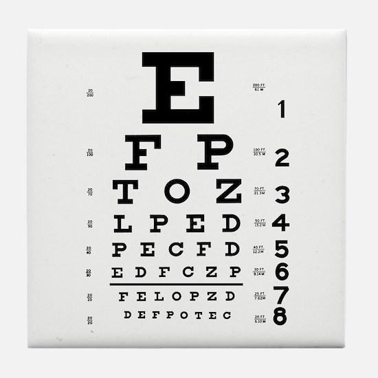 Eye Chart Tile Coaster