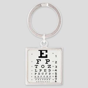 Eye Chart Square Keychain