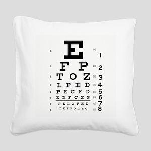 Eye Chart Square Canvas Pillow