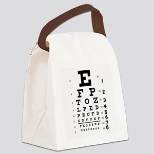 Eye Chart Canvas Lunch Bag