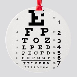 Eye Chart Round Ornament