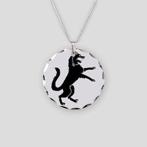 Stark Direwolf Necklace Circle Charm