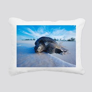 Green turtle after laying eggs - Pillow