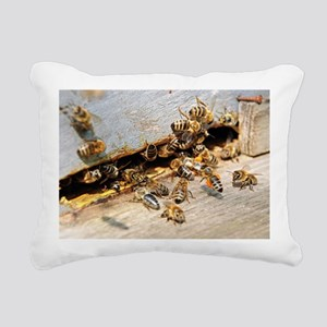 Honey bees on a beehive - Pillow