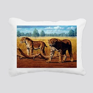 Sabre-toothed cats, artwork - Pillow