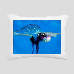 Sea snail attacking Portuguese man-of-war - Pillow